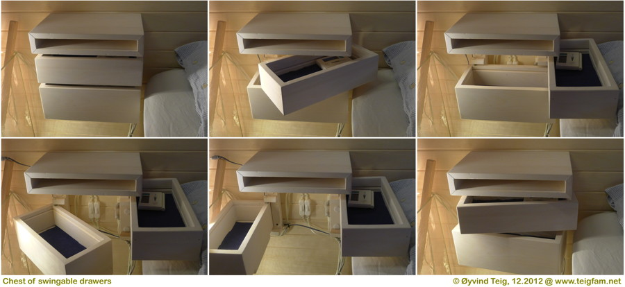 Chest of swingable drawers - overview