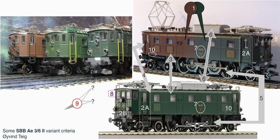 SBB Ae 3/6 II variants
