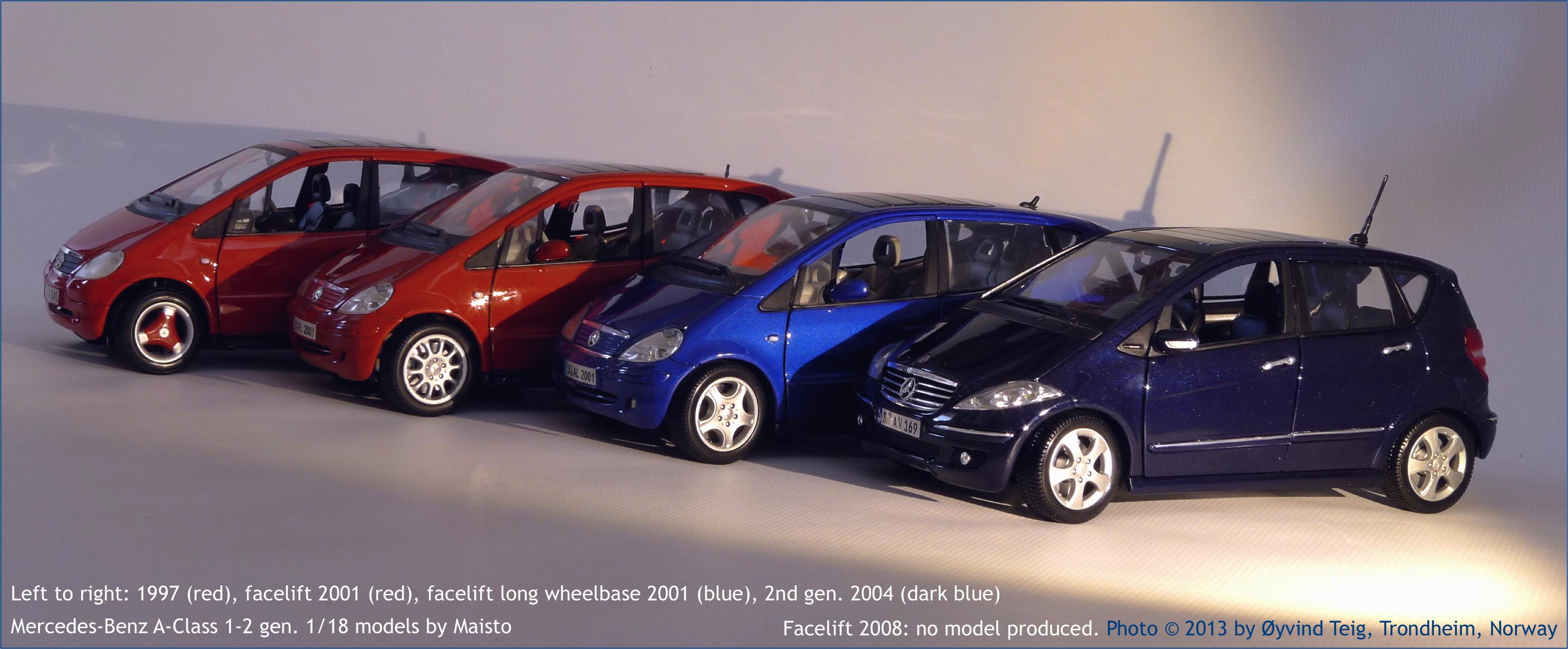 Maisto 1 18 Mercedes Benz A Class Models Fig2 Large