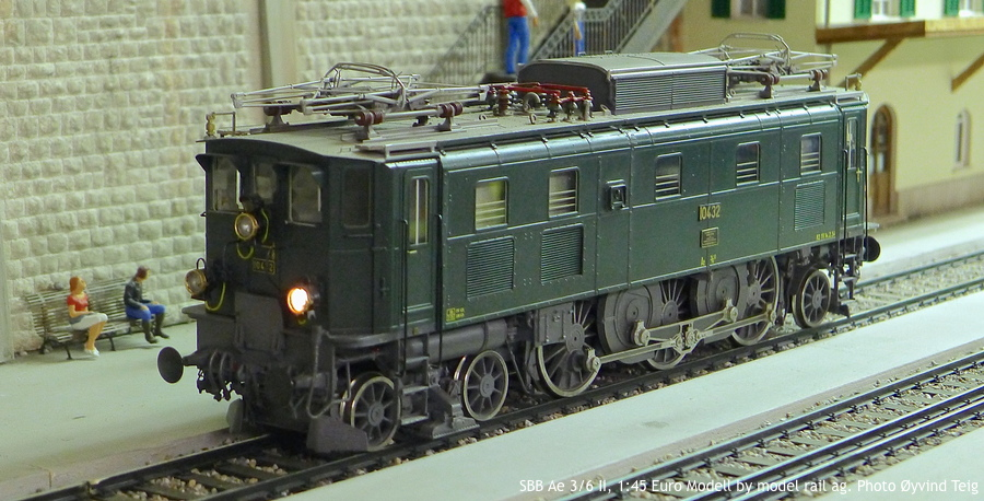 086 fig4 SBB Ae 3/6 II, 1:45 Euro Modell by model rail ag. Photo Øyvind Teig