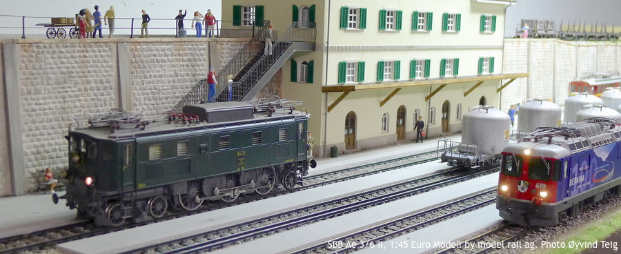 086 fig5 SBB Ae 3/6 II, 1:45 Euro Modell by model rail ag. Photo Øyvind Teig
