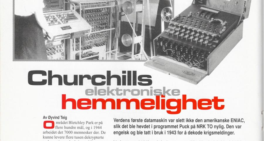 Churchills elektroniske hemmelighet (utsnitt av foto)