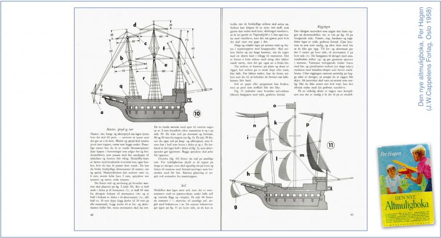 Sailing ship. Design by Per Hagen (1958)