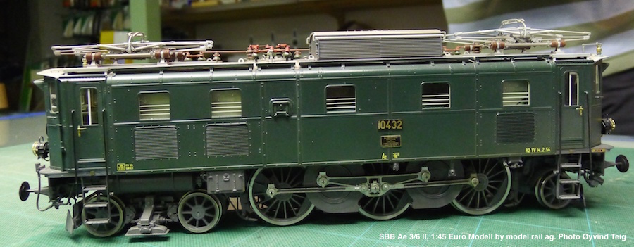 086 fig3 SBB Ae 3/6 II, 1:45 Euro Modell by model rail ag. Photo Øyvind Teig
