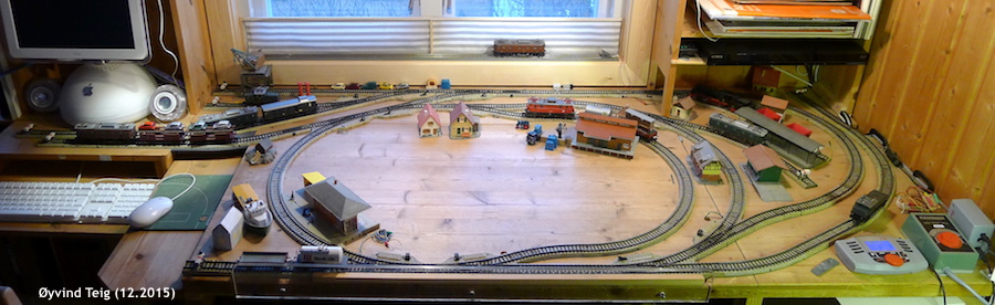 Model railway layout Øyvind Teig (Dec2015)