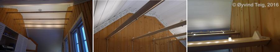 Roof floor LED list lamp (ceiling)