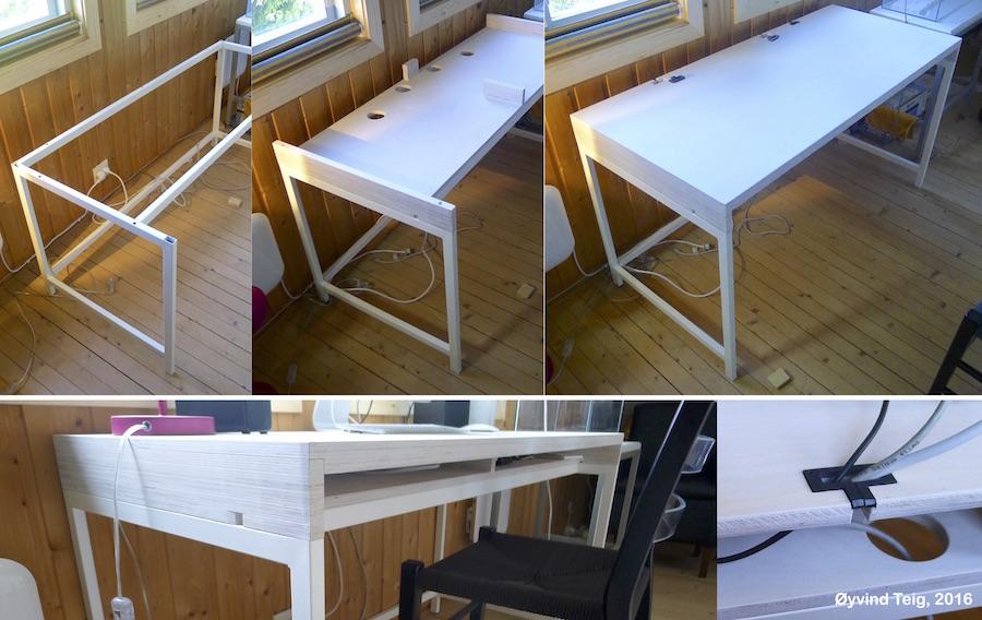 My IKEA Alex desk's new table top