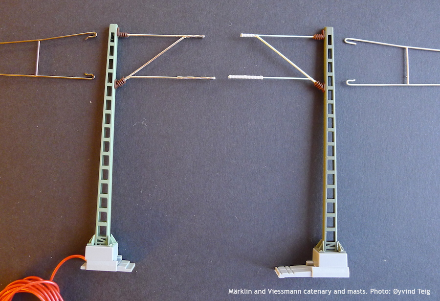 Märklin and Viessmann catenary and masts