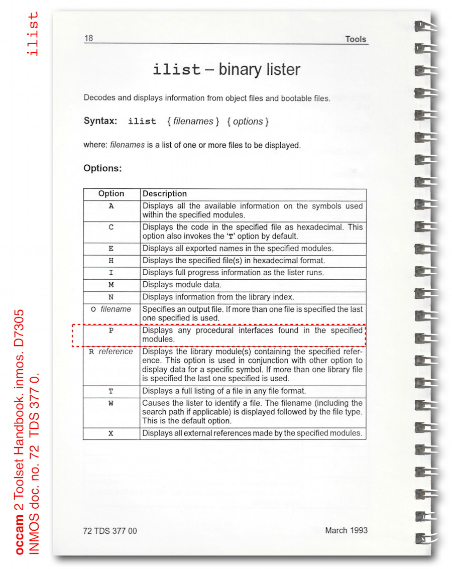 081 fig1 inmos occam 2 toolset ilist binary lister
