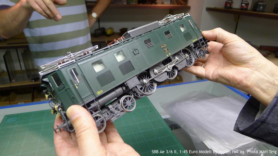 086 fig1 SBB Ae 3/6 II, 1:45 Euro Modell by model rail ag. Photo Mari Teig