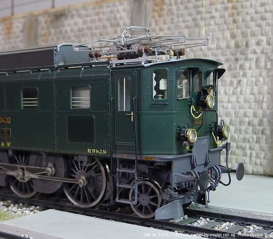 086 fig3 SBB Ae 3/6 II, 1:45 Euro Modell by model rail ag. Photo Øyvind Teig