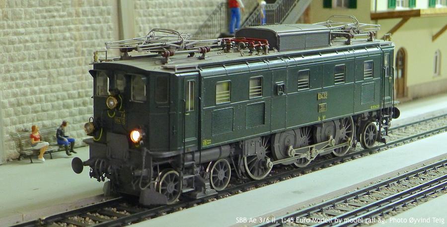 086 fig4 SBB Ae 3/6 II, 1:45 Euro Modell by model rail ag. Photo Øyvind Teig