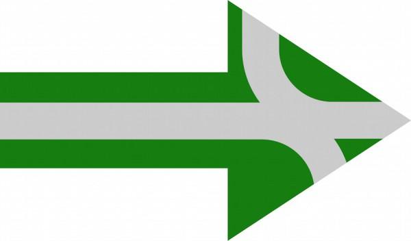 Channel yielding arrow by Øyvind Teig