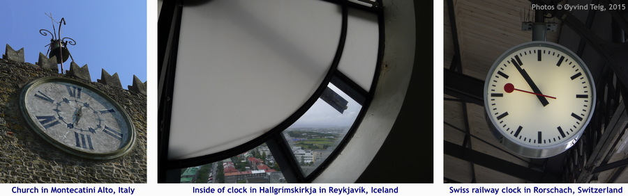 Clocks from different views